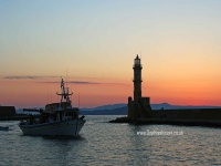 Chania-harbour-sunset