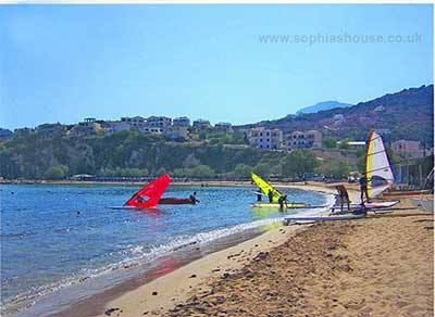 windsurfers at Almerida