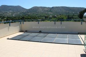solar panels heated pool crete